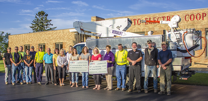 OEC Check Presentation for Employee Charity
